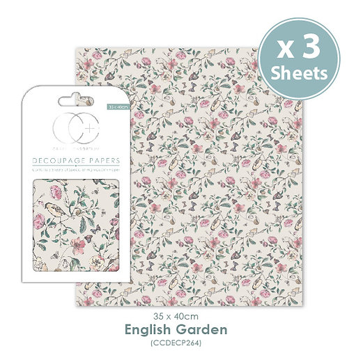 English Garden - Decoupage Papers Set