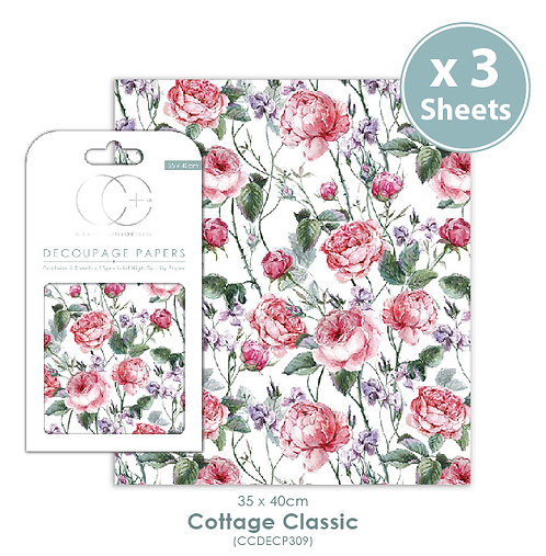 Cottage Classic - Decoupage Papers Set