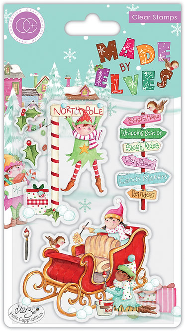 Made by Elves - Sleigh - Stamp Set