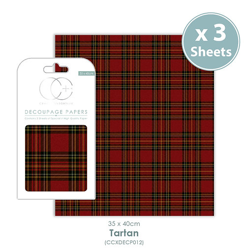 Tartan - Decoupage Papers Set