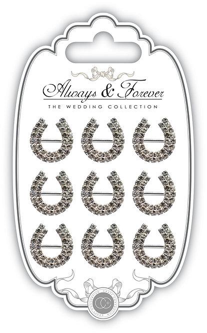 Always & Forever - Diamante Horseshoe Buckles