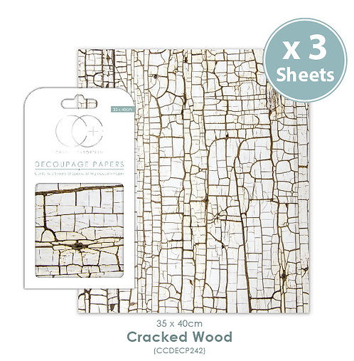 Cracked Wood - Decoupage Papers Set