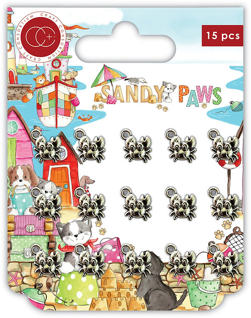 Sandy Paws - Silver - Little Crabs - Metal Charms
