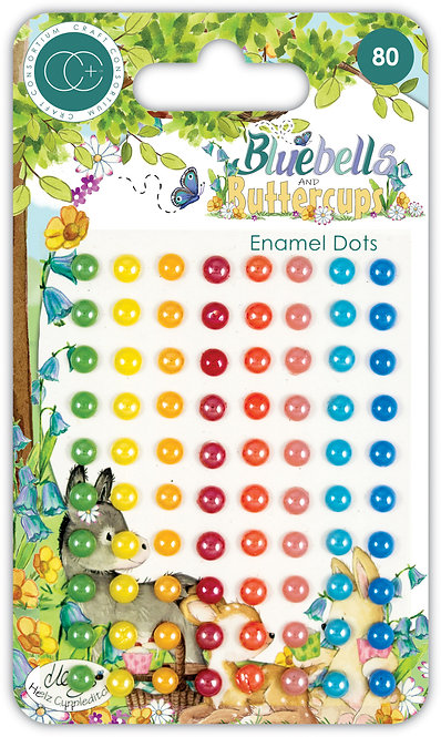 Bluebells and Buttercups - Adhesive Enamel Dots