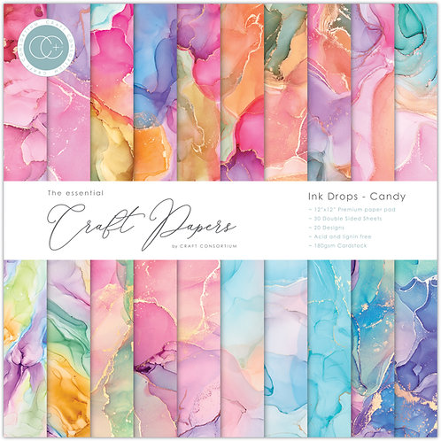 The Essential Craft Papers  - Ink Drops - Candy