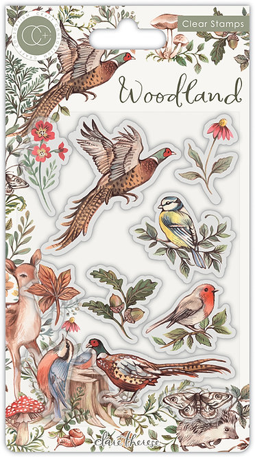 Woodland - Premium Stamp Set - Birds