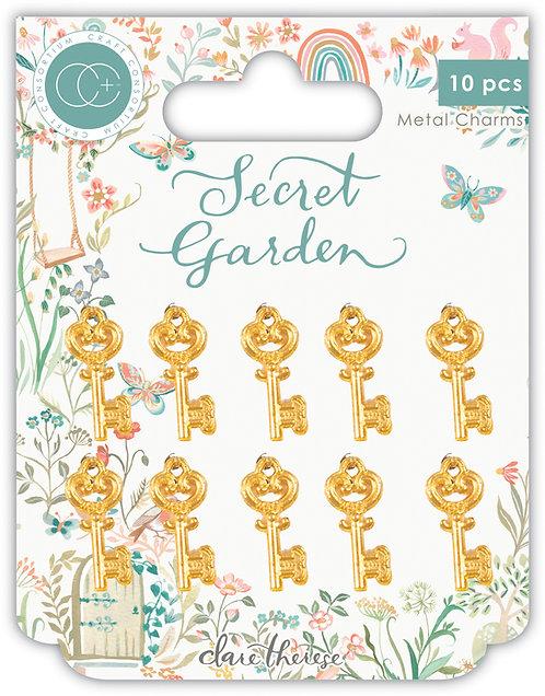 Secret Garden - Gold Metal Key Charms