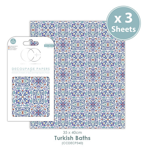 Turkish Baths - Decoupage Paper Set