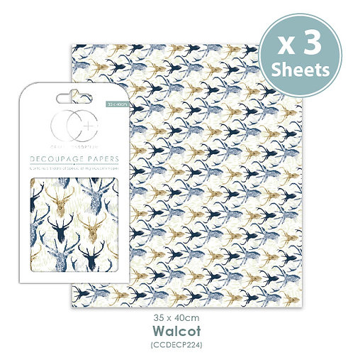 Walcot - Decoupage Papers Set