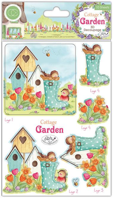 Cottage Garden - 3D Decoupage Set