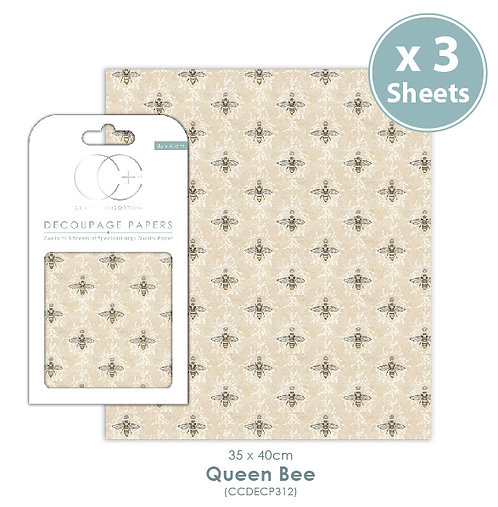Queen Bee - Decoupage Papers Set