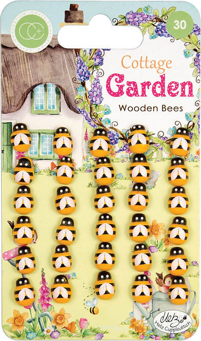 Cottage Garden - Wooden Bees