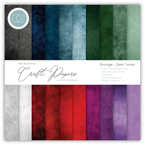 The Essential Craft Papers - 6x6 Grunge - Dark Tones