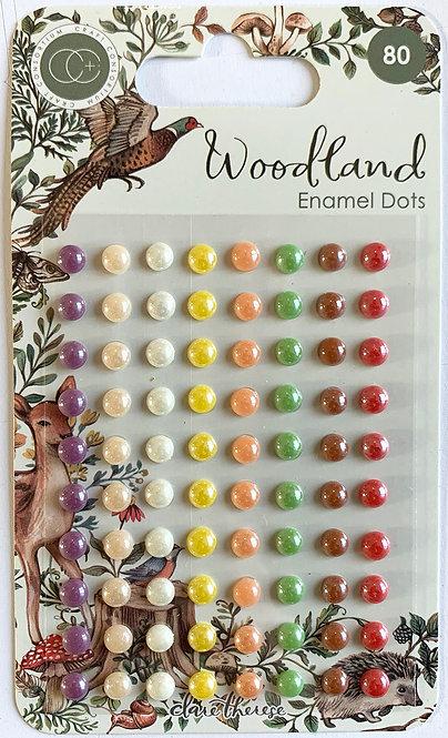 Woodland - Adhesive Enamel Dots