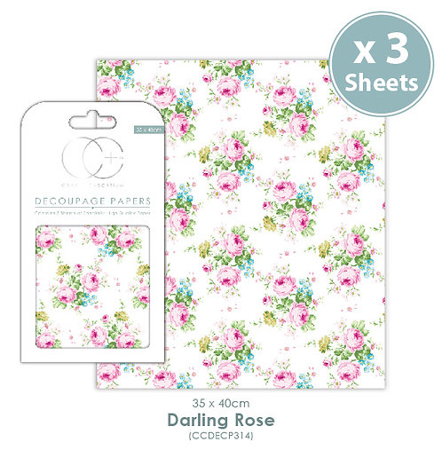 Darling Rose - Decoupage Papers Set