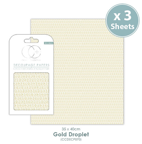 Gold Droplet - Decoupage Papers Set