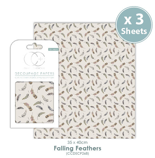 Falling Feathers - Decoupage Papers Set