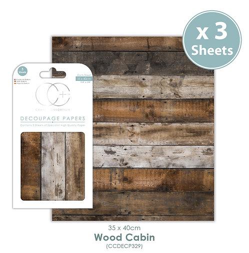 Wood Cabin - Decoupage Paper Set