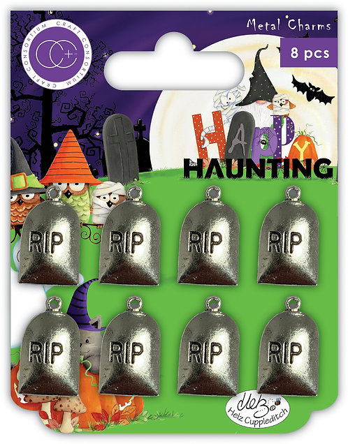 Happy Haunting - Grave Stones - Metal Charms
