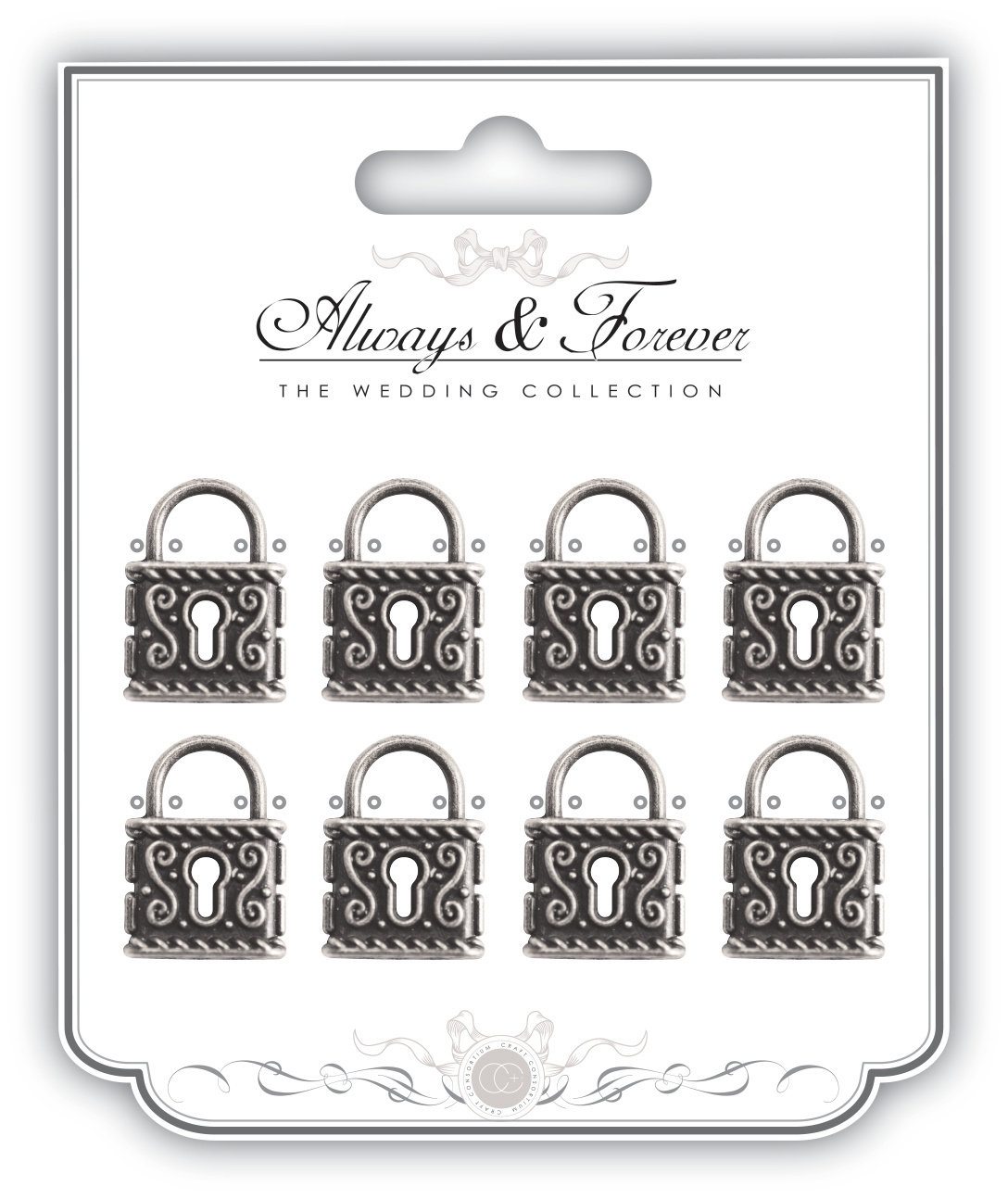 Always & Forever - Vintage Silver Lock Charms