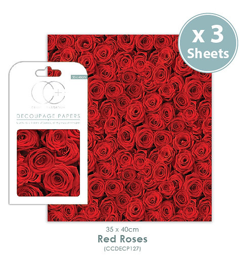 Red Roses - Decoupage Papers Set
