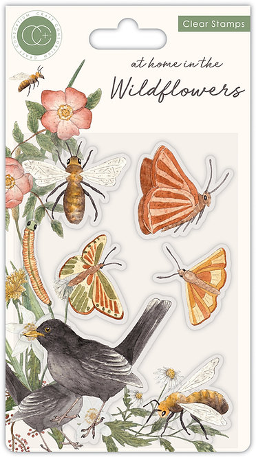 At home in the wildflowers - Bees & Butterflies - Clear Stamp Set