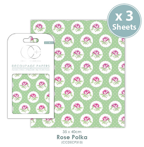 Rose Polka - Decoupage Papers Set