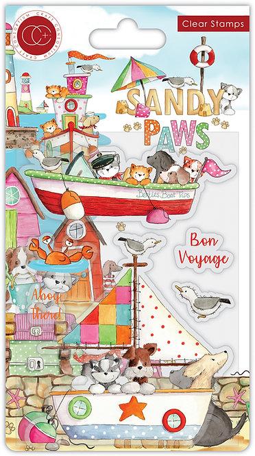 Sandy Paws - Bon Voyage - Stamp Set
