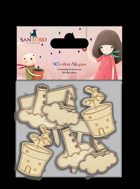 Santoro - Kori Kumi laser cut characters - Melon Shower
