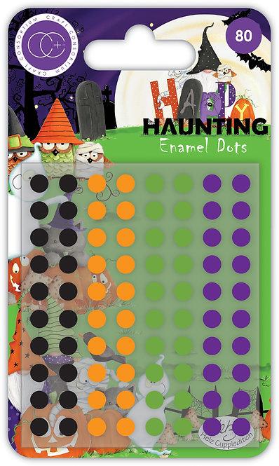 Happy Haunting - Adhesive Enamel Dots