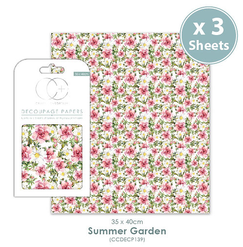 Summer Garden - Decoupage Papers Set
