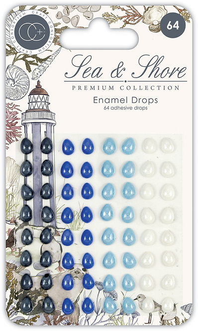 Sea & Shore - Adhesive Enamel Drops