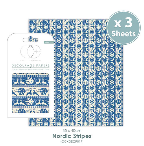 Nordic Stripes - Decoupage Papers Set