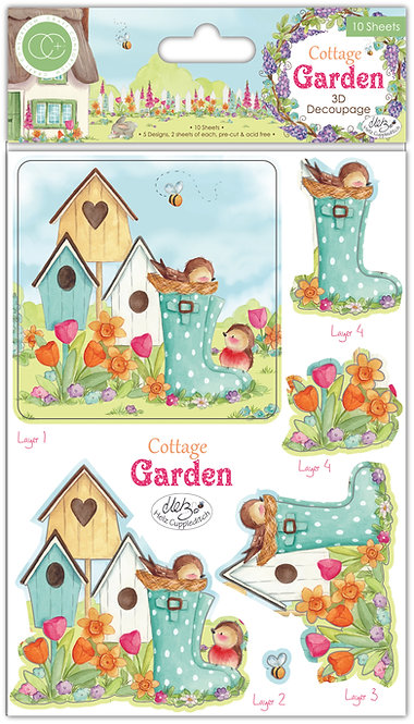 Cottage Garden - 3D Decoupage Set