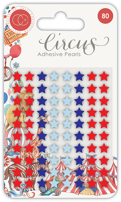 Circus - Adhesive Pearl Stars