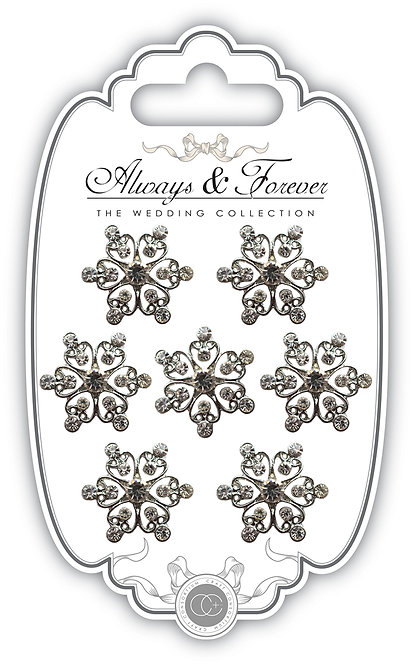 Always & Forever - Heart Cluster Diamante Charms