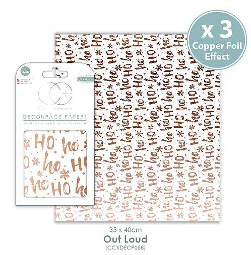 Out Loud - Copper Metallic - Decoupage Paper Set