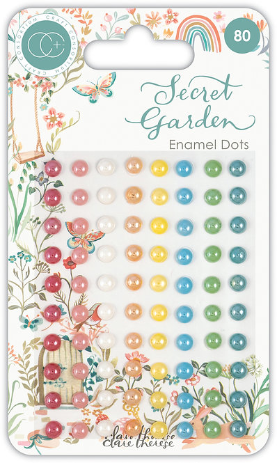 Secret Garden - Adhesive Enamel Dots
