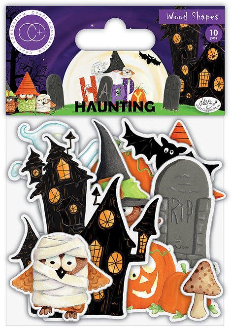 Happy Haunting - Printed Wooden Ephemera