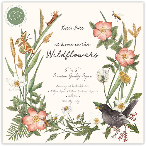 """At home in the wildflowers - 6""""x6"""" Premium Paper Pad"""