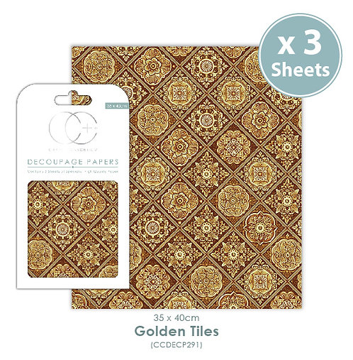 Golden Tiles - Decoupage Papers Set