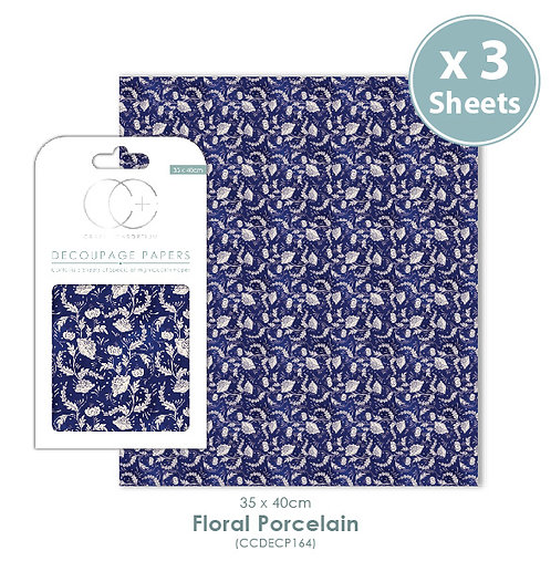 Floral Porcelain 2 - Decoupage Papers Set