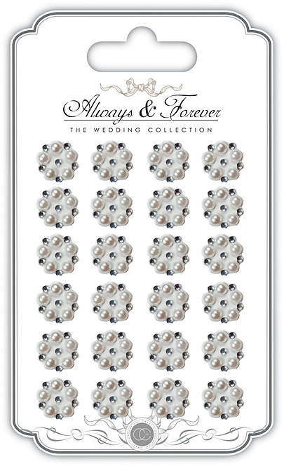 Always & Forever - Adhesive Pearl & Rhinestone Cluster