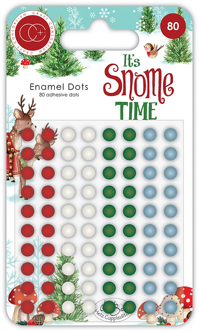 It's Snome Time - Adhesive Enamel Dots