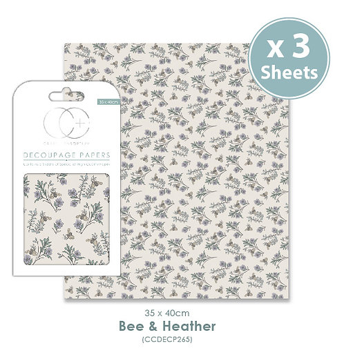 Bee & Heather - Decoupage Papers Set