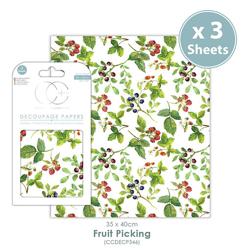 Fruit Picking - Decoupage Paper Set