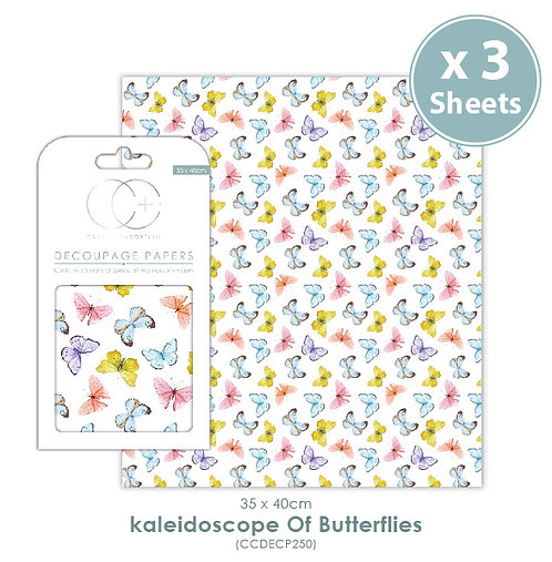 Kaleidoscope of Butterflies - Decoupage Papers Set