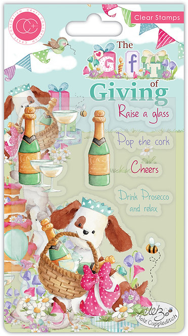 The Gift of Giving - Pop the Cork - Clear Stamp Set