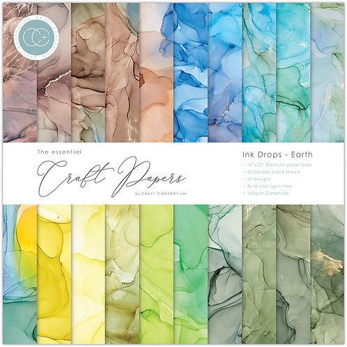 The Essential Craft Papers  - Ink Drops - Earth