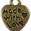 Thumbnail: Always & Forever - Vintage Metal Heart Charms - Made with love
